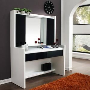 비앙스 보니크 화이트 화장대(2단서랍+수납거울)